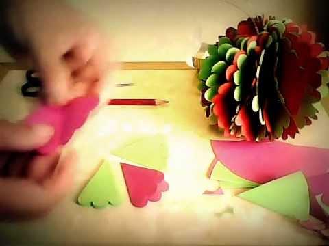 Esferas  navideñas colgantes  de papel - christmas balls
