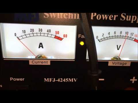 MFJ-4245mv power supply review and test