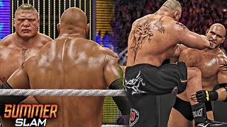 WWE 2K16 Summerslam 2016 - Goldberg Returns And Destroyed Brock Lesnar!