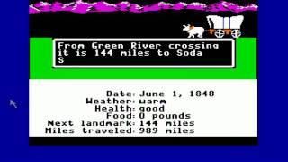 The Oregon Trail for Apple II