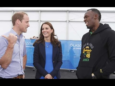 Royals meet Usain Bolt at Commonwealth Games
