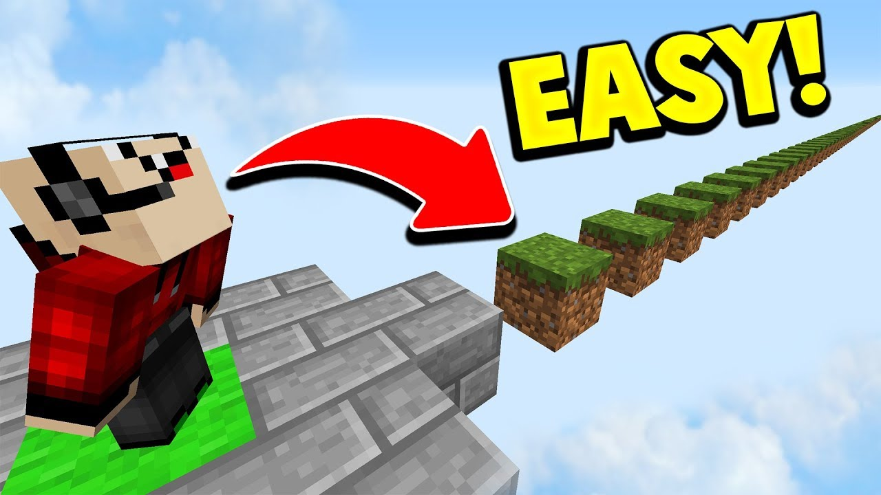 NOOB vs EASIEST MINECRAFT PARKOUR MAP!