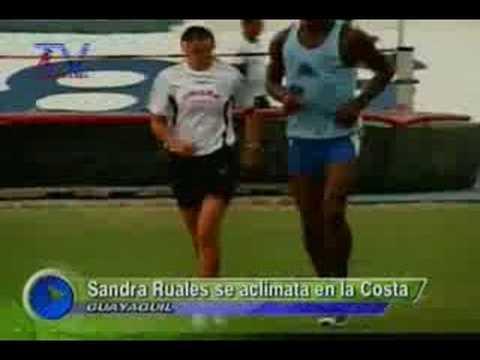 Sandra Ruales se aclimata en la Costa