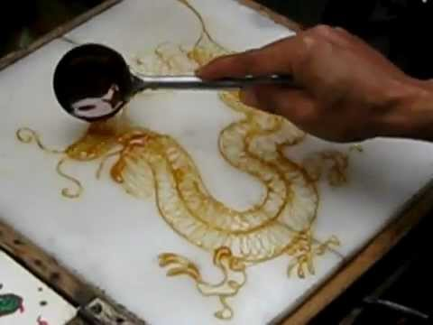 Sugar Painting - Chinese Dragon (糖画:龙)