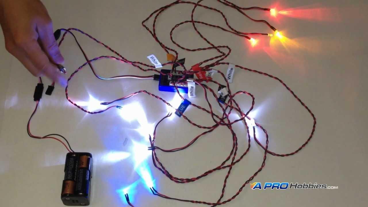 12 Led Flashing Light System For Rc Cars    Trucks