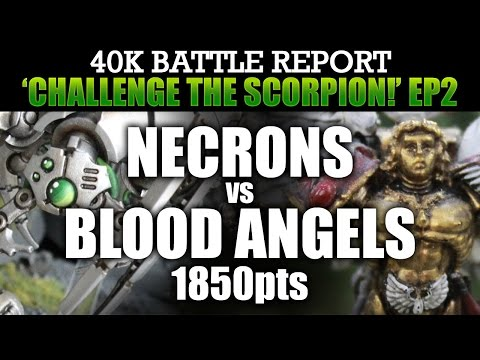 Necrons vs Blood Angels Warhammer 40K Battle Report CTS2: CRYPT CITY! 1850pts   HD Video
