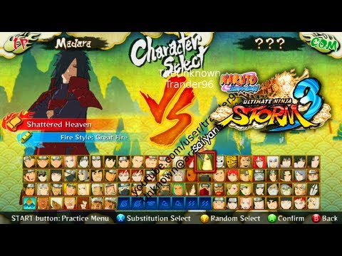 Storm 3 Full Roster / Madara / PTS Characters Discussion