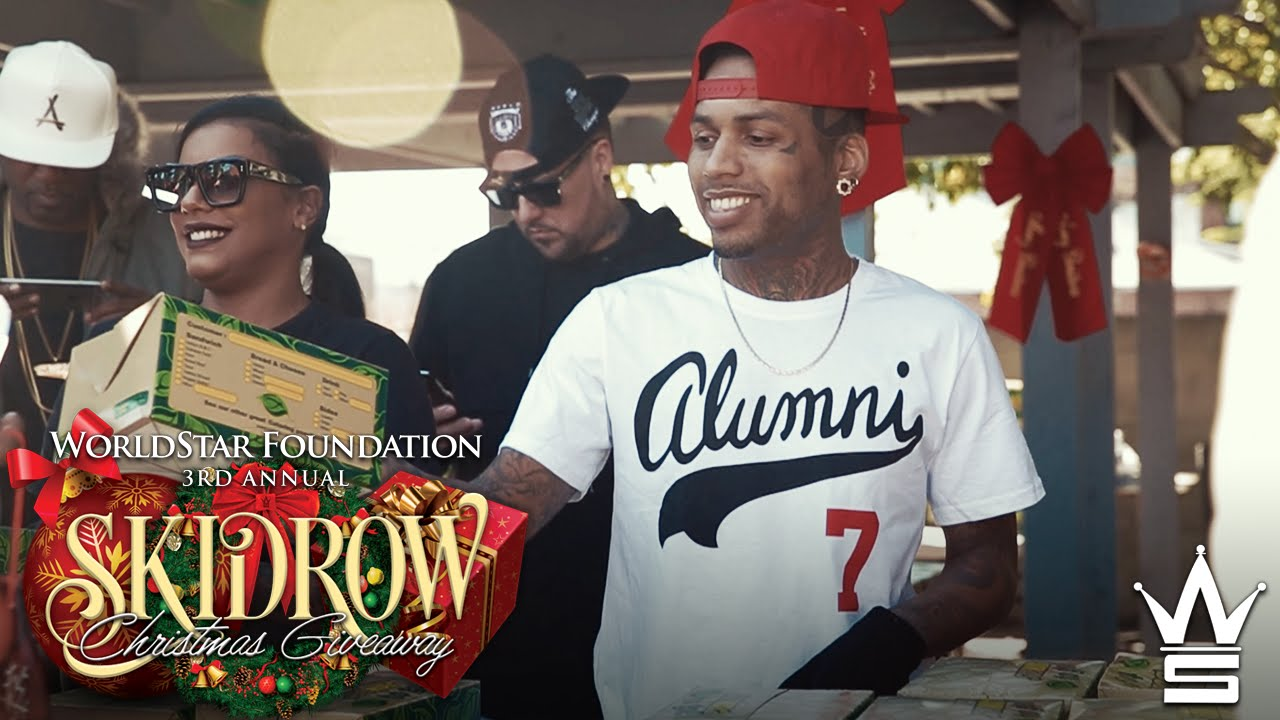 Worldstar Foundation's 3rd Annual Christmas Skid Row Giveaway Hosted by Dj Mustard & Kid Ink!