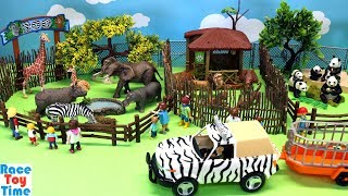 Toy Wild Animals Zoo For Kids - Fun Learn Animal Toys Names Video