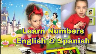 Learn Numbers 1 to 10 in English and Spanish. Learning to count for kids and toddlers