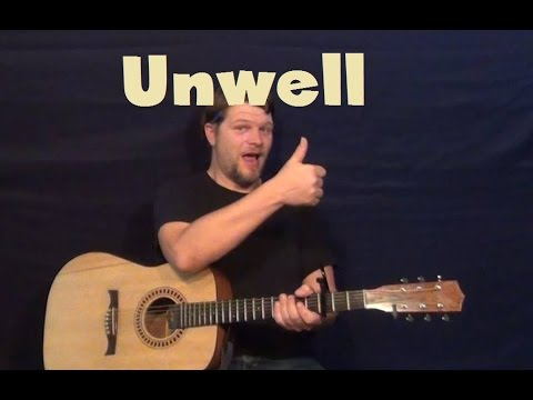 Unwell (Matchbox 20) Guitar Lesson Strum Chord How to Play Tutorial...