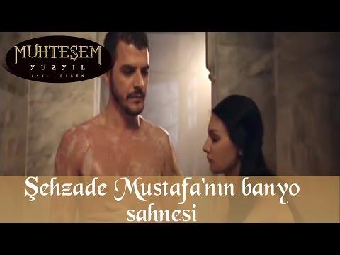 Şehzade Mustafa'nın Banyo Sahnesi - Muhteşem Yüzyıl 59.Bölüm
