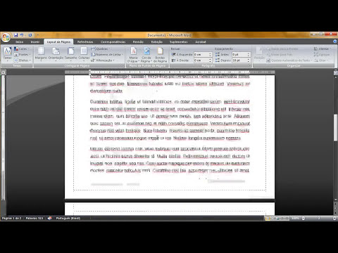 Editando / formatando / arrumando texto para trabalhos / empresas no Word 2007