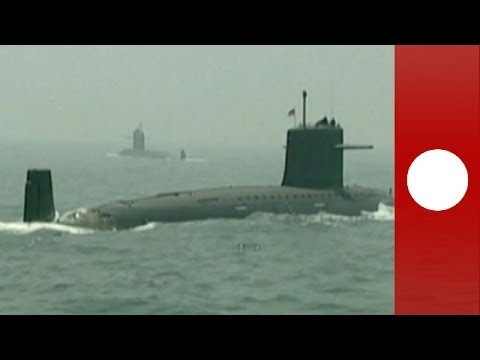 First footage of China nuclear submarine fleet released after military drill