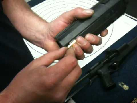 Loading the Calico Light Weapon Systems Liberty I  / M-900's 50 bullet magazine