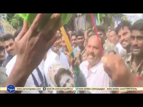 YSRCP President YS Jagan in Sri Krishna Janmastami celebrations || Breaking of the earthen pot
