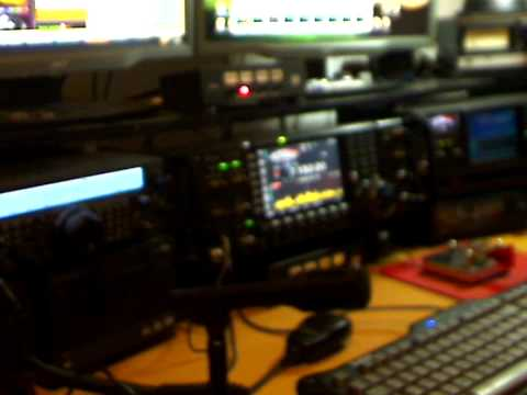 VE3EN Shack March 2010. Icom 7700, Yaesu FT-847, Icom 756 Pro 2