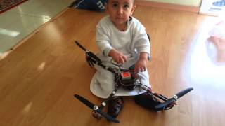 my baby and dji naza quadcopter