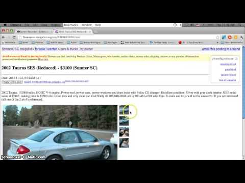 Craigslist Florence SC Used Cars for Sale by Owner - Cheap Prices Under $1500 Today