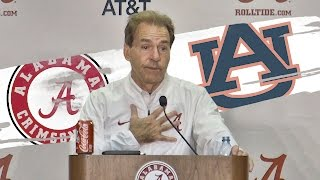 Hear what Nick Saban said after Alabama rolled Auburn
