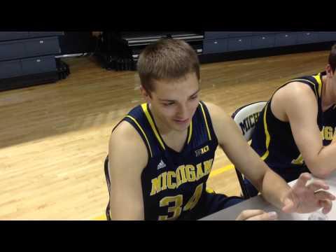 Mark Donnal at Michigan basketball media day