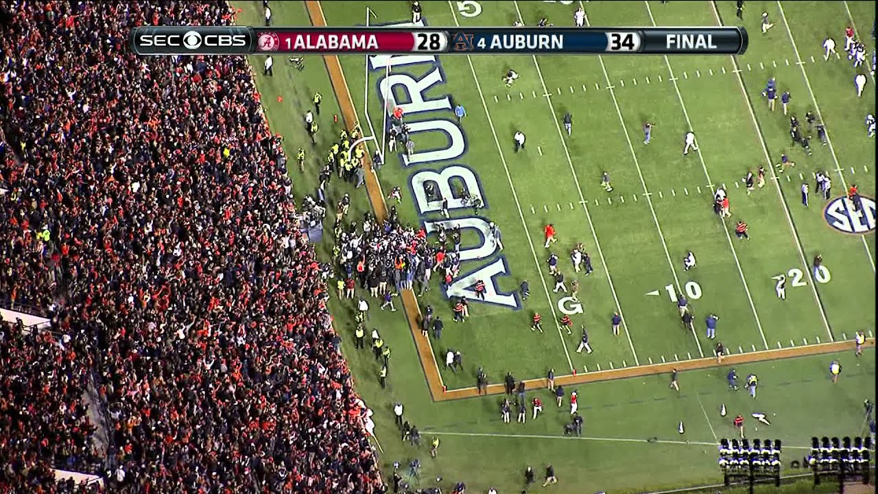 2013 Iron Bowl ending HIGH DEFINITION Auburn beats Alabama ...