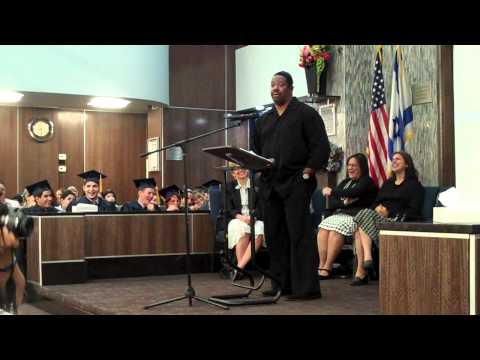 Barkai Yeshivah seniors 2010 graduation, Leslie Brice speaking - 06/16/2011
