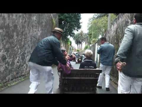 AIDAbella Madeira - Funchal - Korbschlittenfahrt v. Monte am 12.03.2011