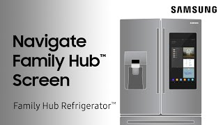 01. How to navigate the screen on your Family Hub refrigerator | Samsung US