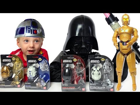 Star Wars Egg Force Герои Звездных Войнов Трансформируются в Яйца Видео для детей