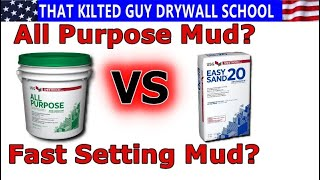 Which Joint Compound do you Need?  Fast setting or All Purpose?  I'll teach you all about them.