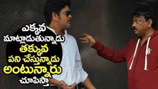 Ram gopal varma STRONG Reply to Critic Satires on him @ nagarjuna new movie Launch | Filmylooks