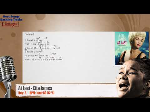 At Last - Etta James Vocal Backing Track with chords and lyrics