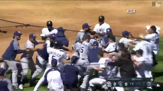 Rockies vs Padres BENCH CLEARING FIGHT!!! Nolan Arenado is heated after intentional inside fastball