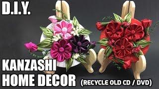 Download D.I.Y. Kanzashi Home Decor   Recycle Old CD / DVD   MyInDulzens 3Gp Mp4
