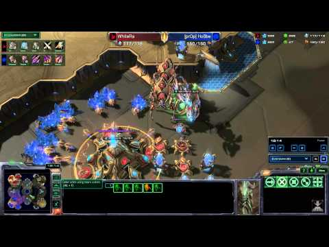 HD Starcraft 2 tt.WhiteRa v Hobbe PvZ Heart of the Swarm g2