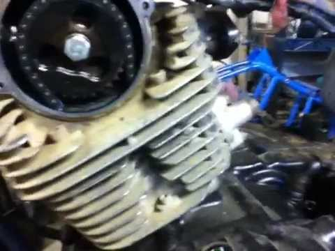 How to remove the cylinder head off a 4 stroke atv