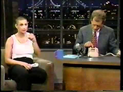 Demi Moore  on Letterman