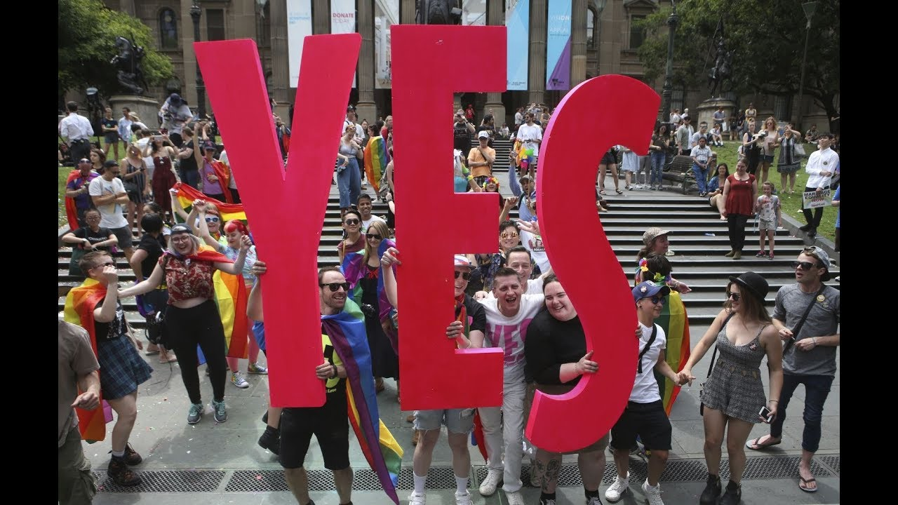 Aussies say 'yes' to same-sex marriage