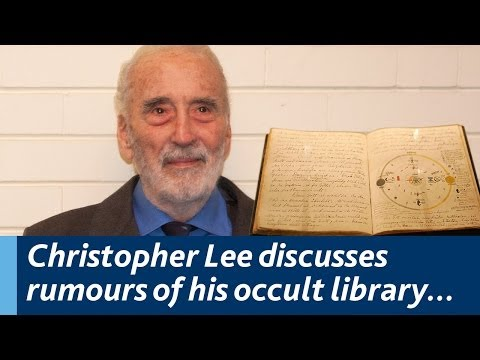 Christopher Lee discusses rumours of his extensive occult library...