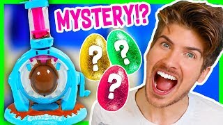 MAKING CHOCOLATE MYSTERY EGGS!