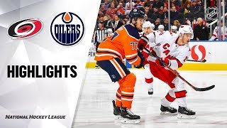 NHL Highlights | Hurricanes @ Oilers 12/10/19