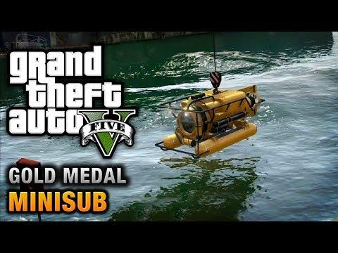 GTA 5 - Mission #29 - Minisub [100% Gold Medal Walkthrough]