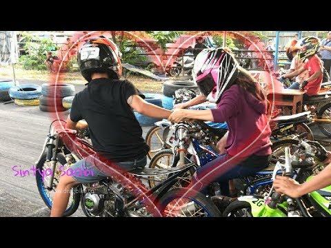 NGESELINN...!! Alvan Cebonk Gangguin Wiwi Mungils Start di Sirkuit GDS Nyetting Matic 200cc injeksi
