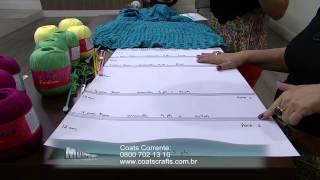 Mulher.com 10/11/2014 - Saia Longa de Trico por Vitória Quintal - Parte 1
