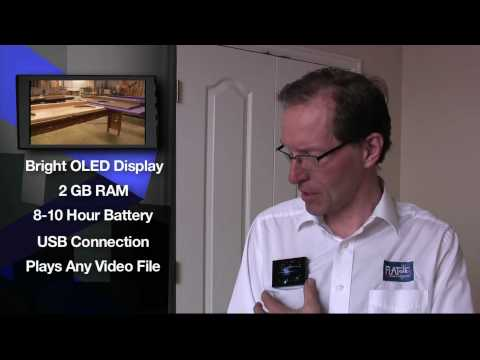 Video Name Tag wearable video screen for trade shows and promotion