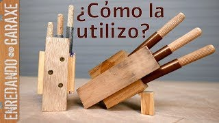 Guía para unir listones con espigas o tubillones de madera