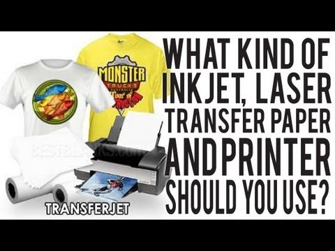 what type of transfer paper or printer should you use to