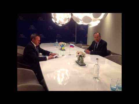 Andrii Deshchytsia meets Minister of Foreign Affairs Sergei Lavrov