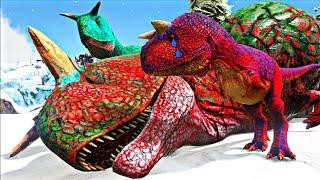 Adotei um Bebê Carnotauro Ferido! Irmãozinhos em PERIGO! Dinossauros Ark Survival Evolved (PT/BR)